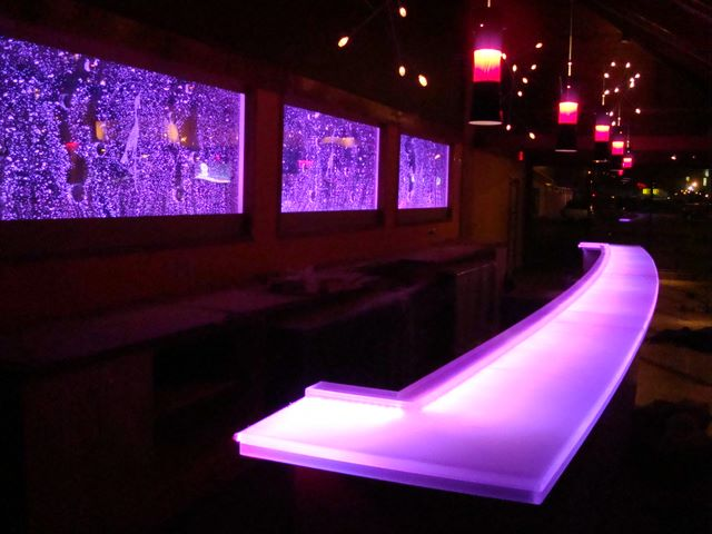 Custom Curved Glowing LED Color-changing bars