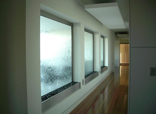 Water Windows in Residential Hallway